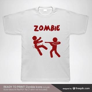 T-shirt conceito vetor zumbi