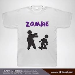 T-shirt do projeto do vetor zumbi
