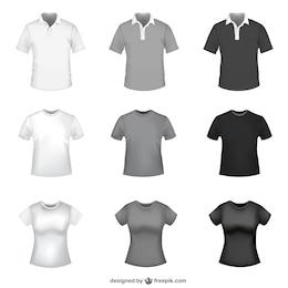 T-shirt templates grátis de vetores