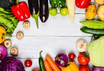 Tabela com vegetais