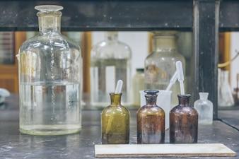 Taças, equipamento, tabela, Fábrica, laboratório