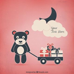 Teddy bear com presentes