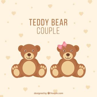 Casal urso Teddy