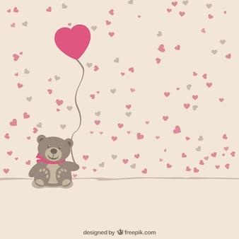 Teddy bear com coração