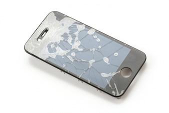 Tela móvel quebrada