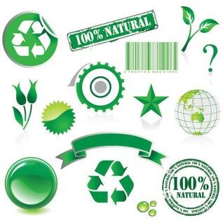 tema do meio ambiente materiais vetor proteção do elemento