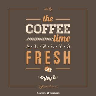 Template café cartaz lettering