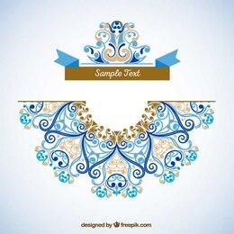 Template decoração Ornamental