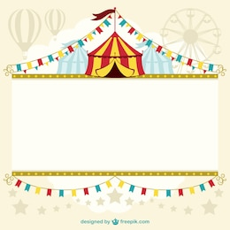 Template design tenda de circo