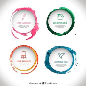 Template emblemas Aguarela