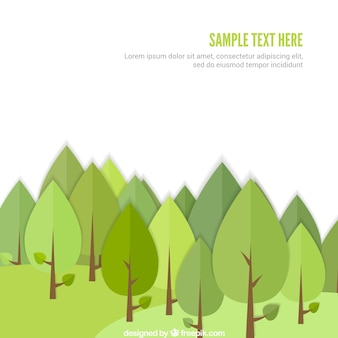 Template floresta verde