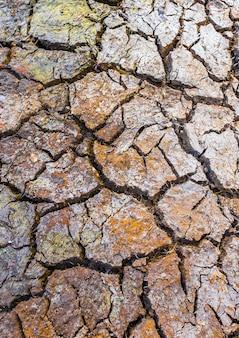 Terra argilosa rachado