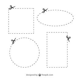 Tesouras com cutlines