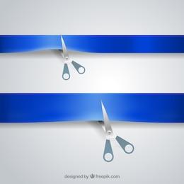 Tesouras que cortam a fita