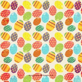 Teste padrão colorido dos ovos da páscoa
