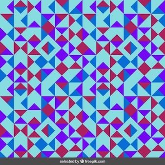 Teste padrão colorido feito com triângulos em fundo azul claro