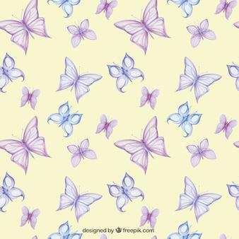 Teste padrão com borboletas