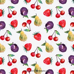 Teste padrão da fruta Watercolor