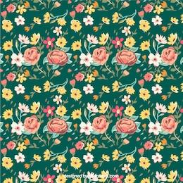 Teste padrão de flores do vintage
