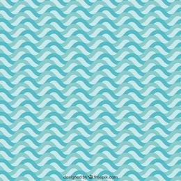 Teste padrão de ondas azul
