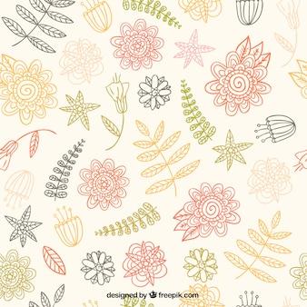 Teste padrão floral esboçado
