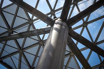 Teto de vidro estrutural