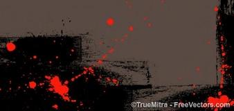 Textura com manchas de tinta vermelha