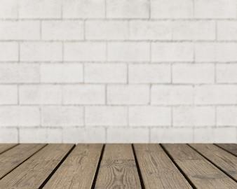 Textura de madeira à procura da parede de tijolos áspera