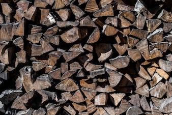 Textura de registros de madeira