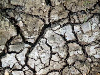 Textura de terra rachada