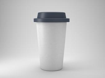 Tire o copo de café plástico