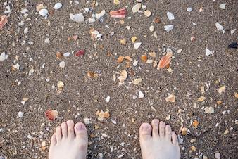Toes na praia