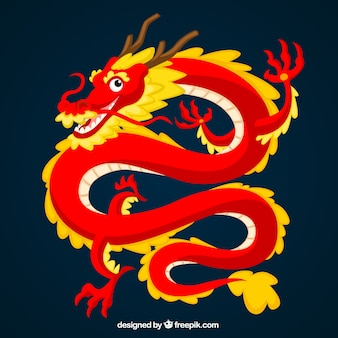 Tradicional dragão chinês