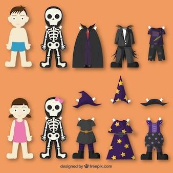 Trajes de Halloween Papel