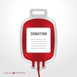 Transfusão de sangue saco vetor