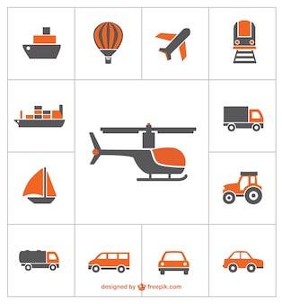 Ícones de transporte vetor livre
