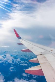 Transporte, mosca, nuvens, jato, voando