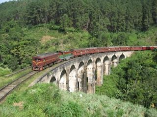 trem, no verão