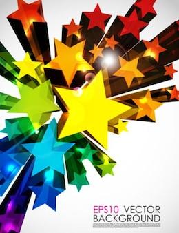 três dimantion fundo colorido