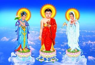 três ícones no oeste psd em camadas