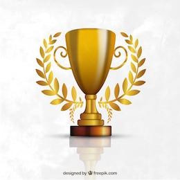 Troféu feito de ouro