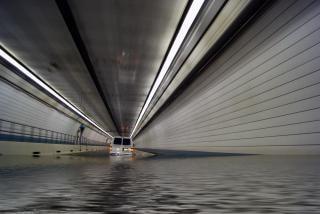 túnel inundado
