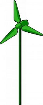 turbina de vento verde
