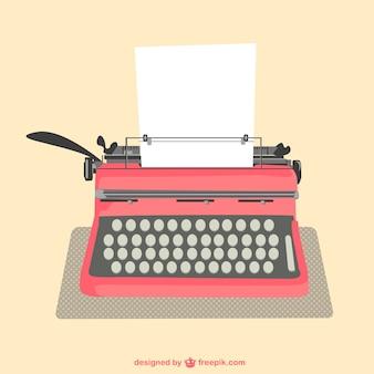 Máquina de escrever folhas de papel vetor