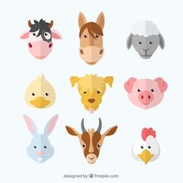 Variedade de animais de fazenda