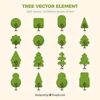 Variedade de árvores