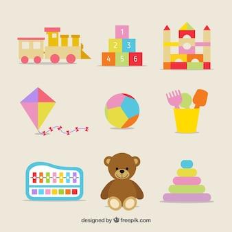 Variedade de brinquedos