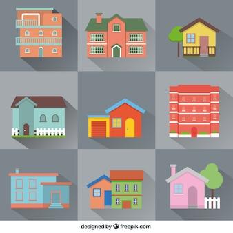 Variedade de casas planas