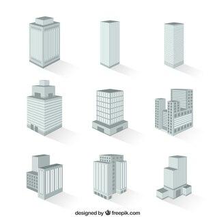 Variedade de edifícios