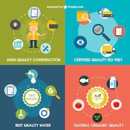 Variedade de ícones de qualidade